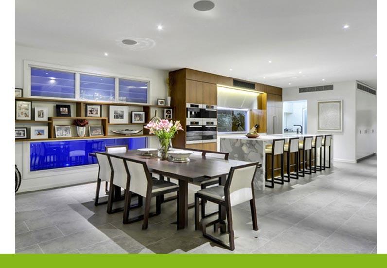 thiết kế nội thất phòng ăn hiện đại, biệt thự đẹp