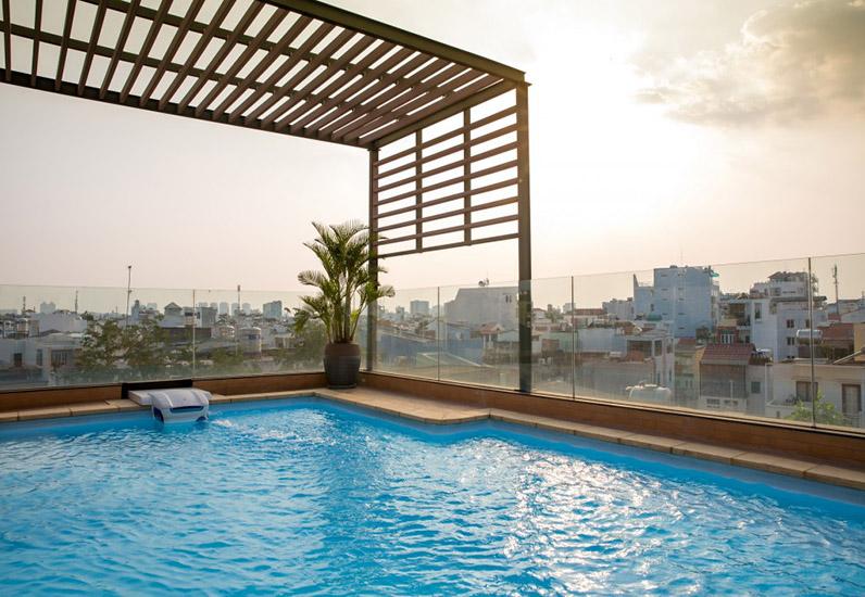 thiết kế hồ bơi sân thượng, nhà phố đẹp