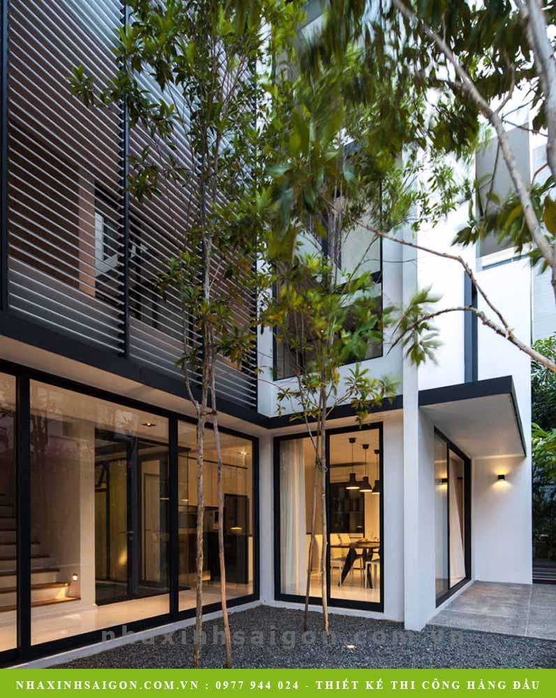 khuôn viên biệt thự, thiết kế nhà