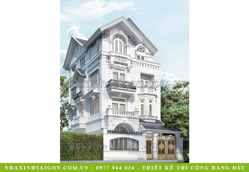 biệt thự tân cổ điển 3 tầng, nhà xinh