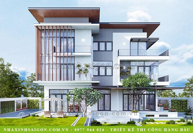 thiết kế biệt thự hiện đại, biệt thự vườn
