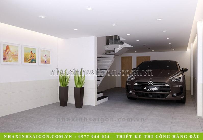 garage xe hơi, nhà phố