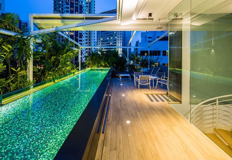 mẫu biệt thự có hồ bơi, nhà xinh