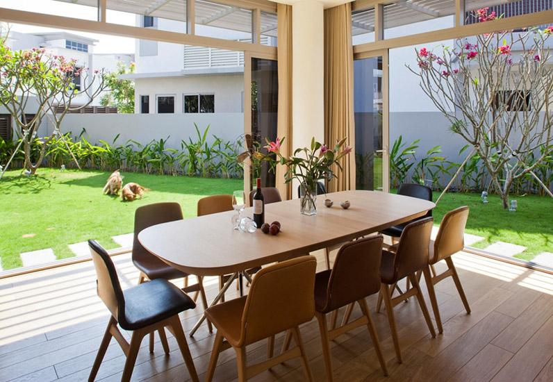 mẫu phòng ăn đẹp, kiến trúc nhà xinh