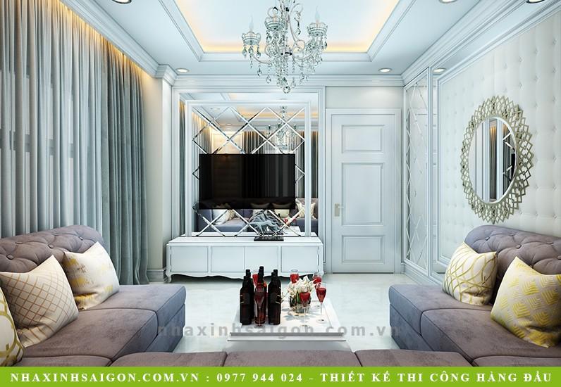 mẫu phòng khách cổ điển, thiết kế nhà xinh