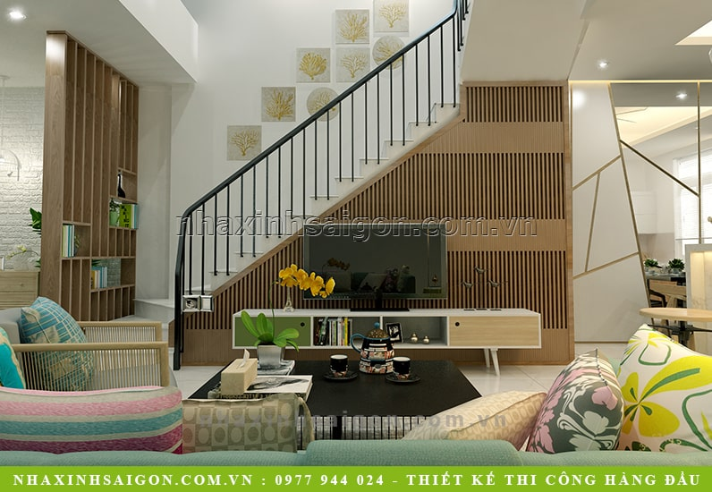 thiết kế phòng khách hiện đại, nhà phố đẹp