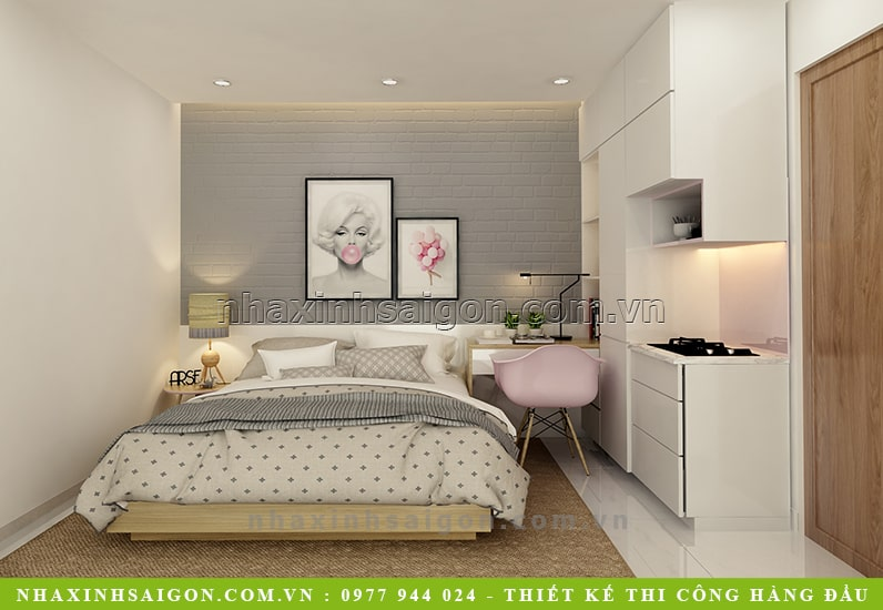 phòng ngủ nữ đẹp hiện đại, nội thất