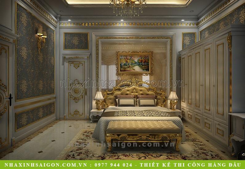 phòng ngủ hoàng gia, nội thất