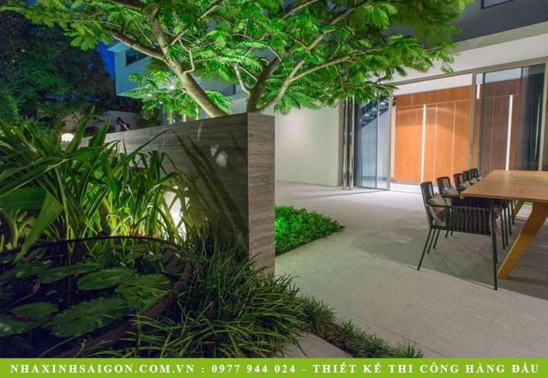 sân vườn đẹp, thiết kế biệt thự