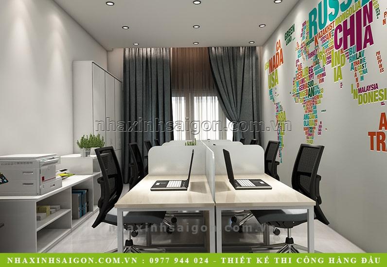 thiết kế phòng làm việc hiện đại, nội thất