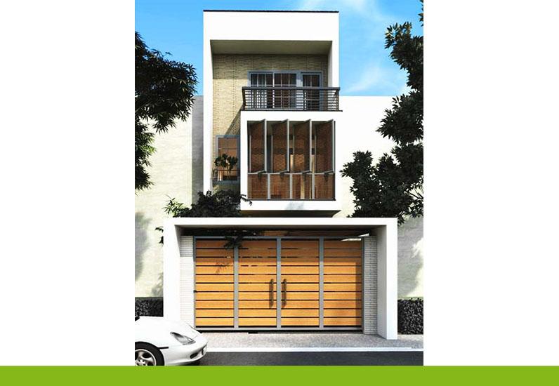 nhà phố 3 tầng dạng ống, thiết kế nhà xinh
