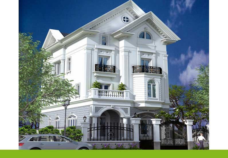 mẫu nhà phố cổ điển, nhà phố đẹp