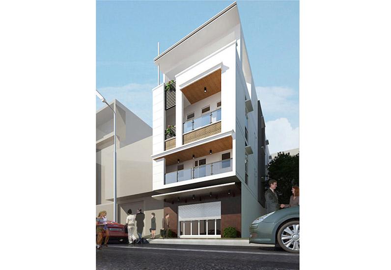 nhà phố 3 tầng mặt tiền, mẫu nhà xinh