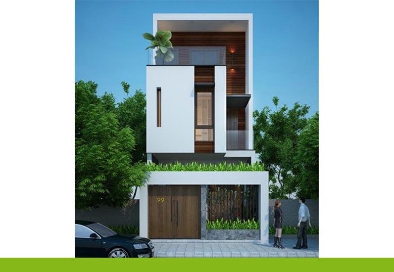 thiết kế nhà phố mặt tiền