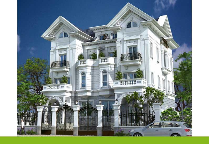 thiết kế nhà phố cổ điển, công ty nhà xinh