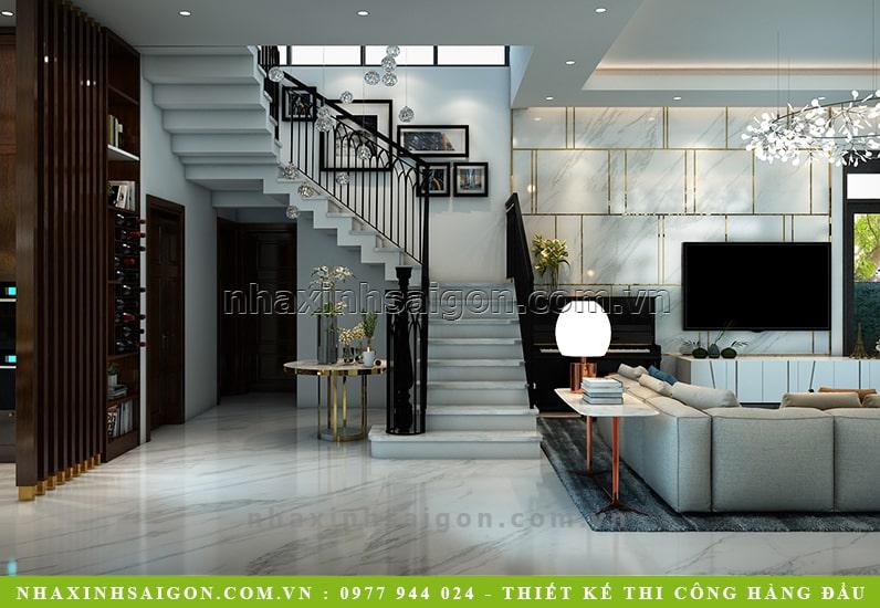 mẫu cầu thang đẹp, biệt thự hiện đại
