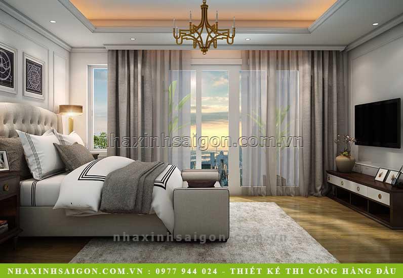 nội thất phòng ngủ hiện đại, biệt thự hiện đại