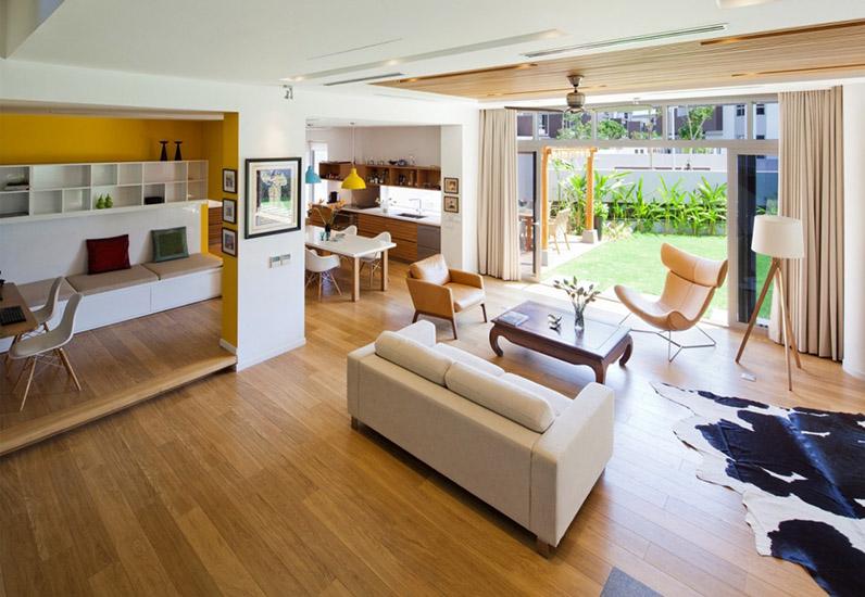 thiết kế nội thất phòng khách, biệt thự hiện đại