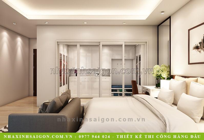thiết kế phòng ngủ master biệt thự, nhà xinh