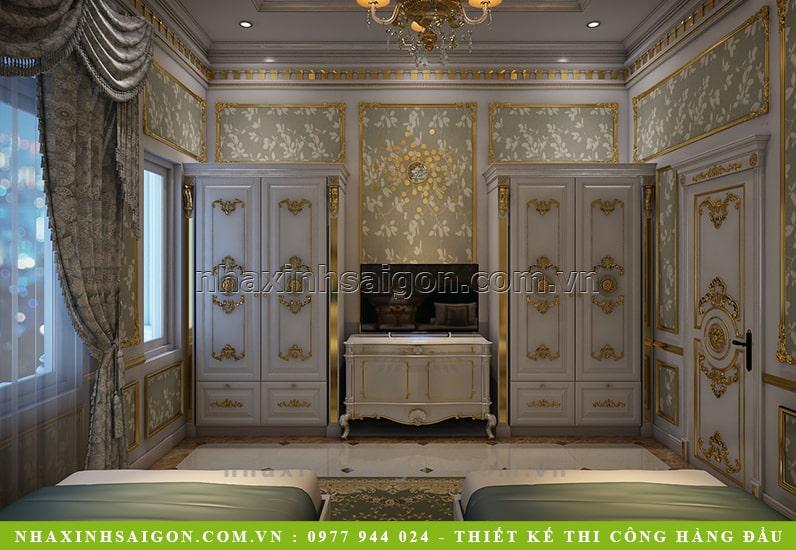 nội thất phòng ngủ hoàn gia, thiết kế nội thất