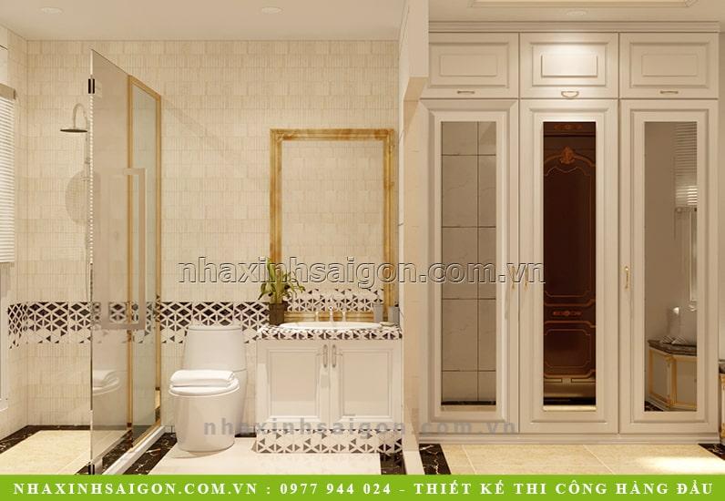 mẫu nội thất phòng vệ sinh cổ điển, biệt thự