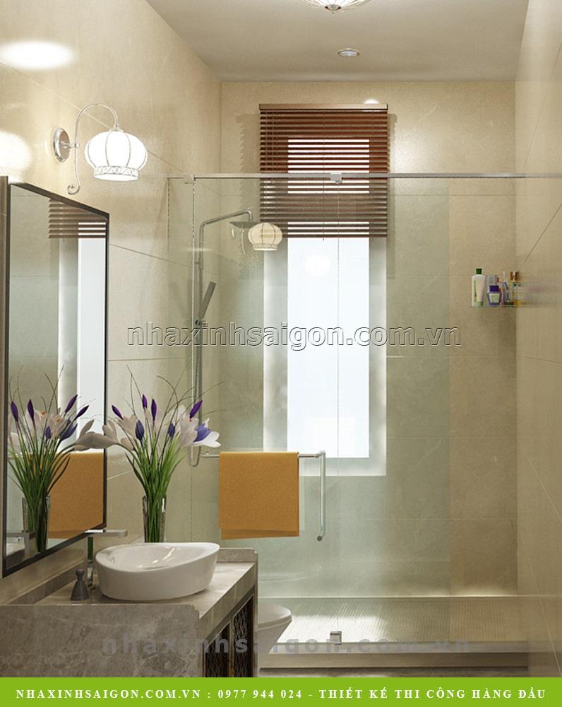 thiết kế nội thất phòng vệ sinh, biệt thự
