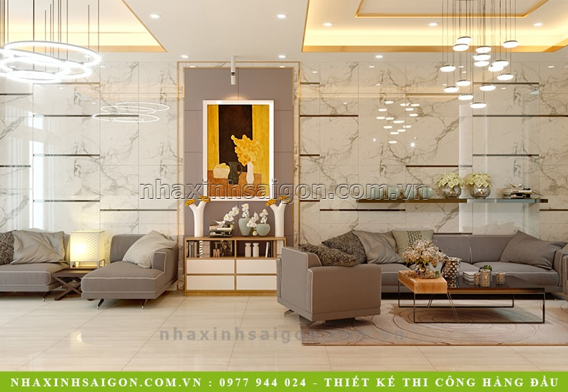 thiết kế phòng khách đẹp, nội thất nhà phố