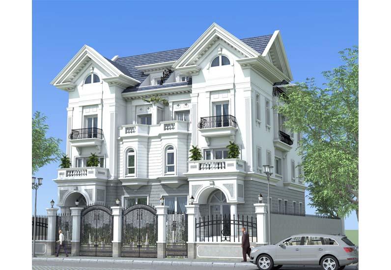 mẫu nhà phố cổ điển đẹp, thiết kế nhà phố