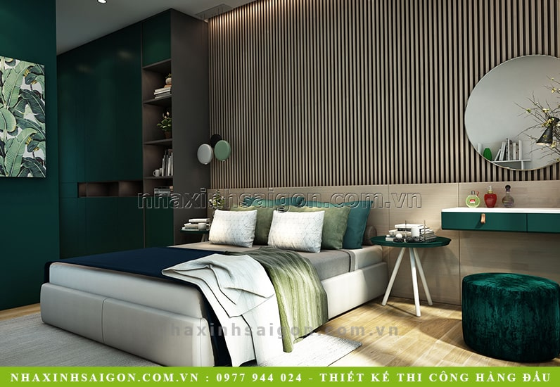 phòng ngủ master hiện đại, thiết kế nội thất