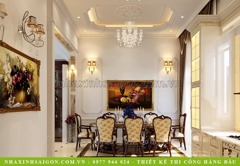 phòng ăn cổ điển đẹp, kiến trúc nhà xinh