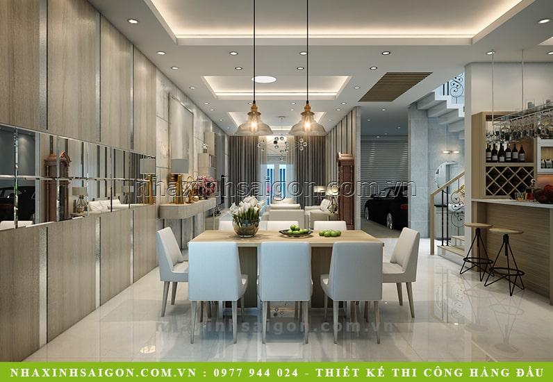 phòng ăn hiện đại, thiết kế nội thất