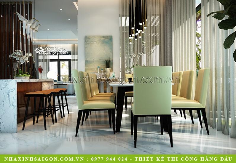 mẫu phòng ăn hiện đại đẹp, thiết kế biệt thự hiện đại