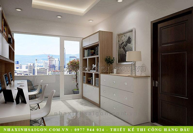 nội thất phòng làm việc hiện đại, thiết kế nhà xinh