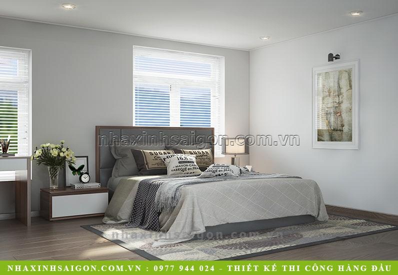 thiết kế phòng ngủ hiện đại, nha xinh
