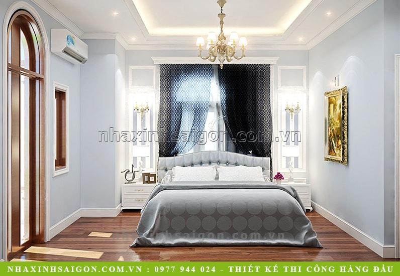 thiêt kế phòng ngủ cổ điển đẹp, biệt thự cổ điển