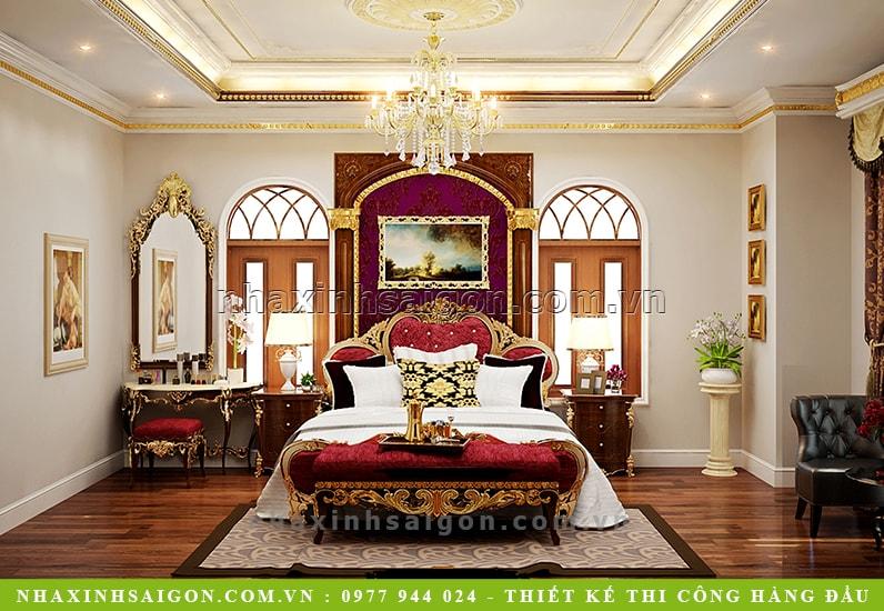 phòng ngủ master cổ điển đẹp, nhà xinh