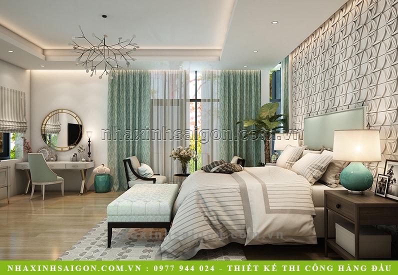 thiết kế phòng ngủ master cho biệt thự, biệt thự đẹp hiện đại
