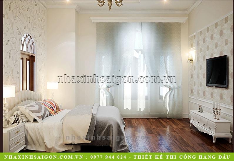 phòng ngủ cổ điển đẹp, kiến trúc nhà xinh