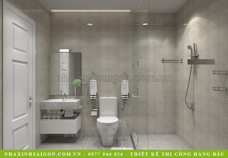 thiết kế phòng vệ sinh đẹp, thiet ke nha xinh
