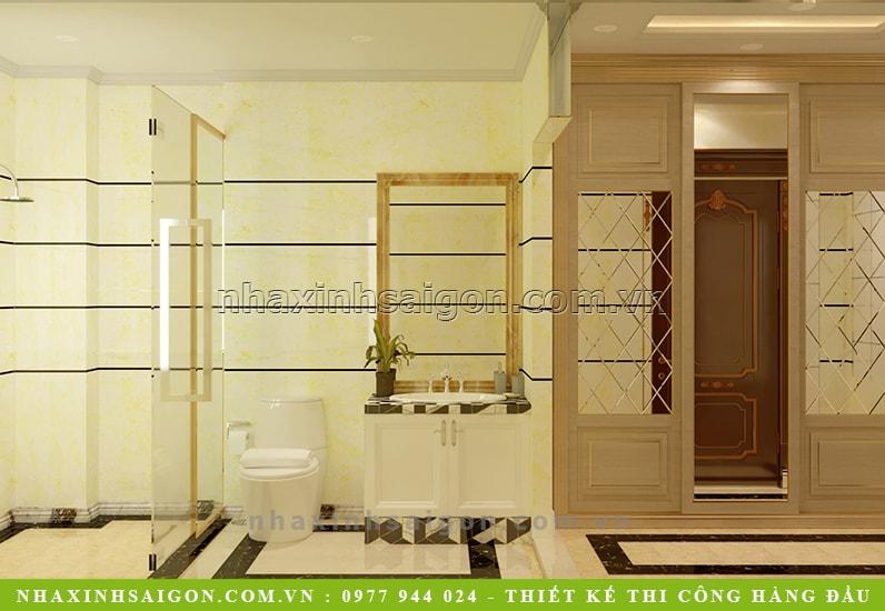 phòng vệ sinh cho khách, thiết kế nội thất