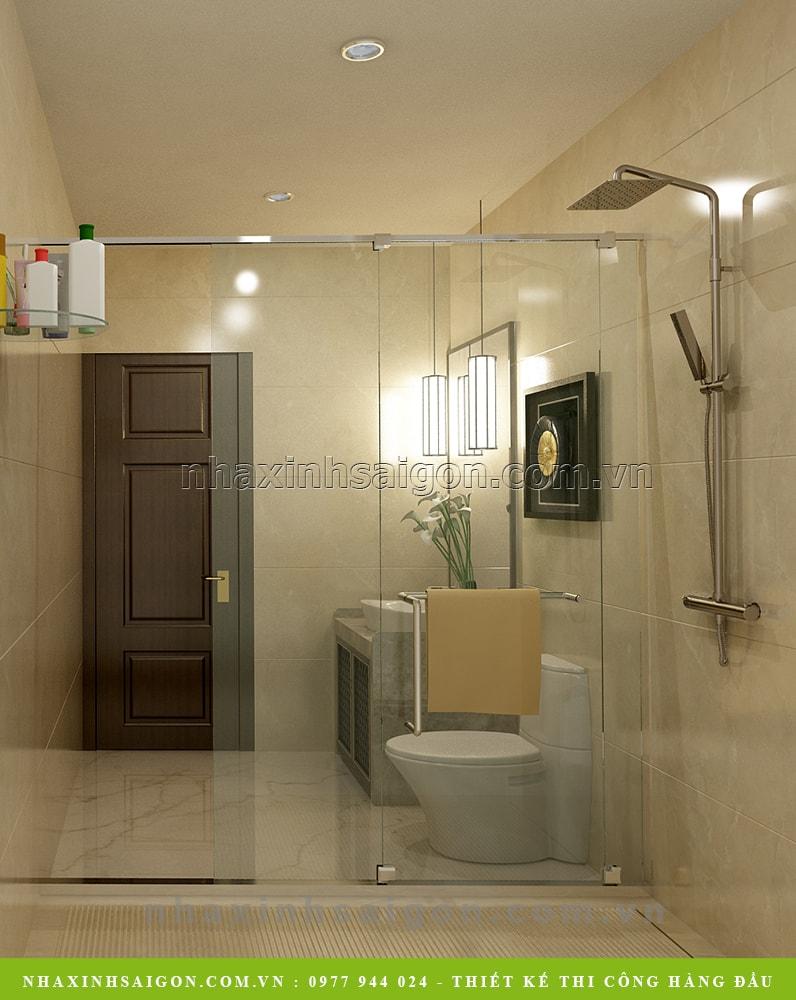phòng vệ sinh hiện đại, biệt thự