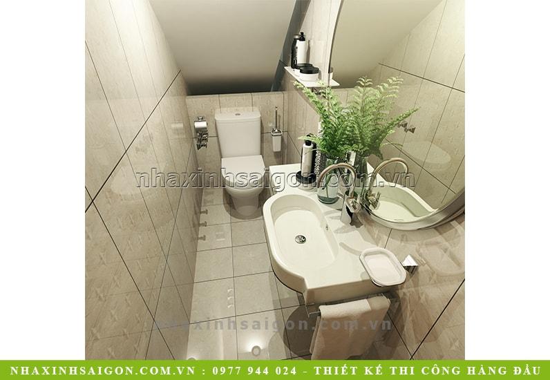 phòng vệ sinh tầng trệt, thiết kế nội thất