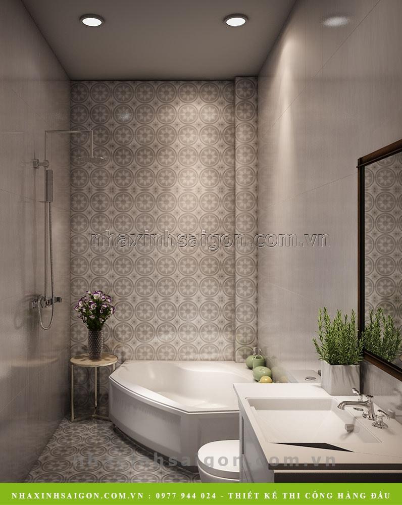 thiết kế phòng tắm vệ sinh hiện đại, nhà xinh