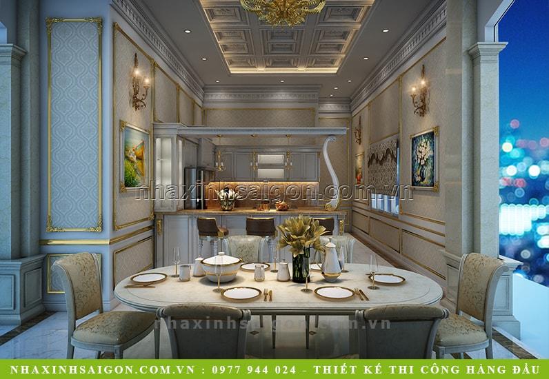 phòng ăn cổ điển đẹp, nội thất