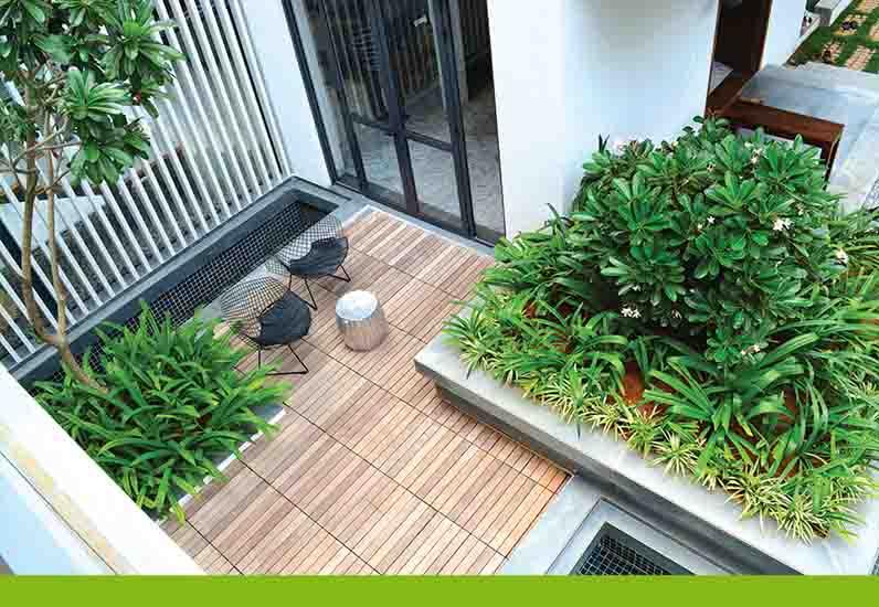 thiết kế sân vườn đẹp, nhà xinh