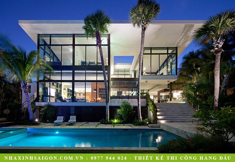 thiết kế biệt thự 3 tầng, nhà xinh