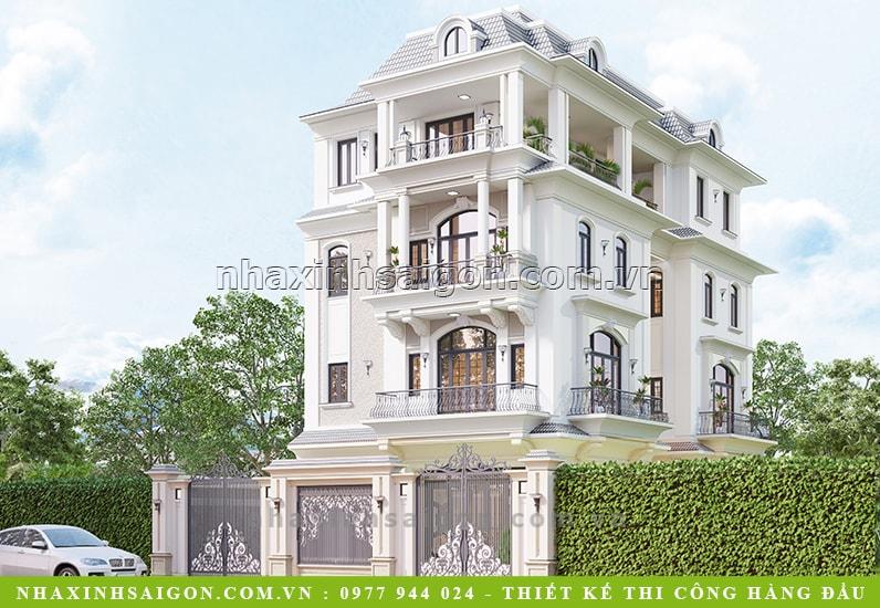 thiết kế biệt thự cổ điển, thiết kế nhà xinh