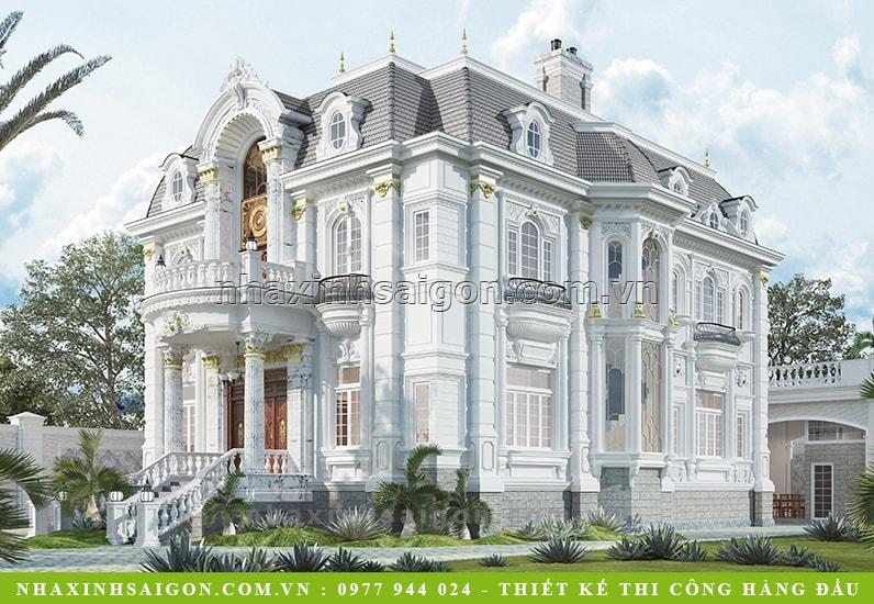 thiết kế biệt thự cổ điển, thiết kế nhà đẹp