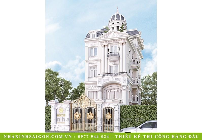 thiết kế biệt thự cổ điển lâu đài, công ty nhà xinh
