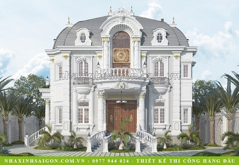 biệt thự cổ điển lâu đài pháp, nhà xinh